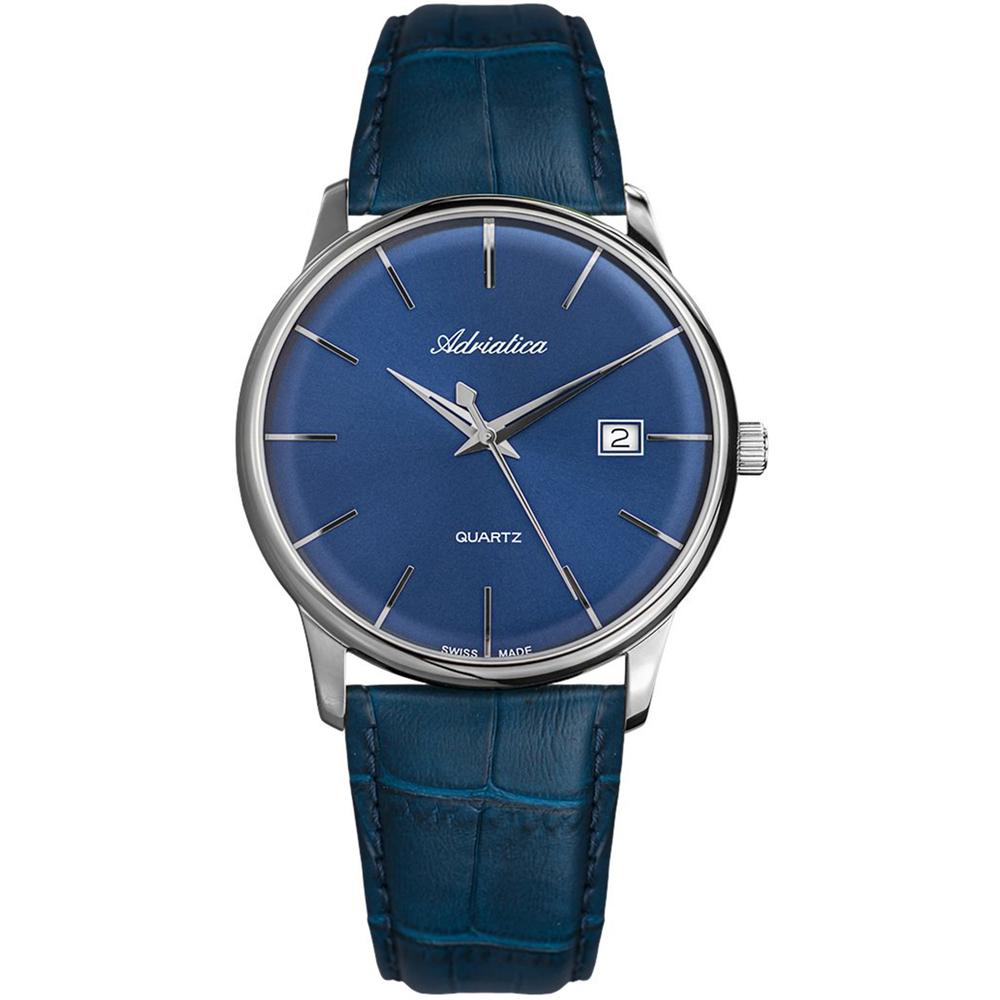 Мужские часы A8242.5215Q на кожаном ремешке с минеральным стеклом