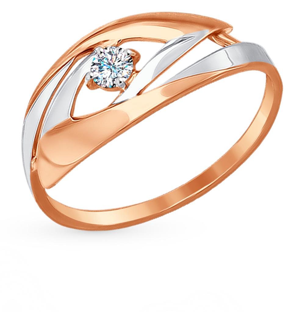 золотое кольцо с фианитами SOKOLOV 017236*