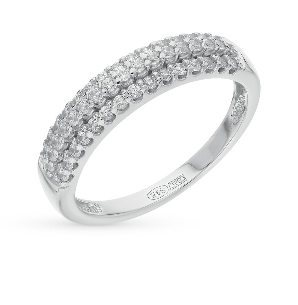 серебряное кольцо с фианитами SOKOLOV 94011535