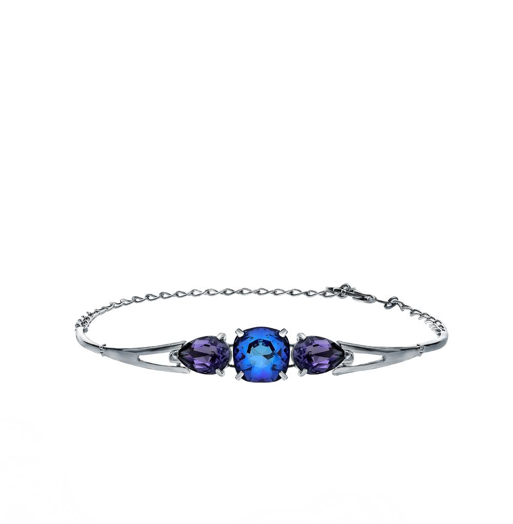 Серебряный браслет с кристаллами SOKOLOV 94050567 в Санкт-Петербурге
