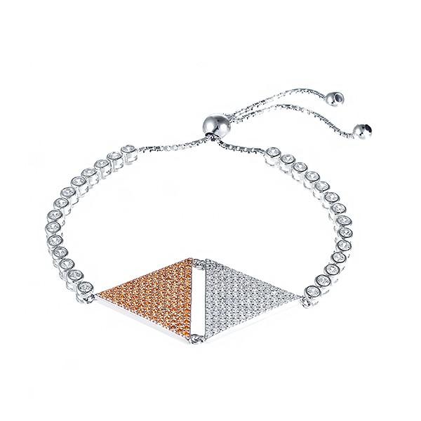 Серебряный браслет с кубическим цирконием в Екатеринбурге