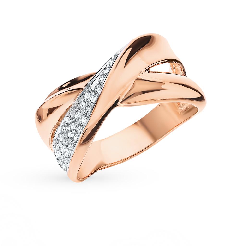 Фото «Золотое кольцо с фианитами SOKOLOV 018557*»