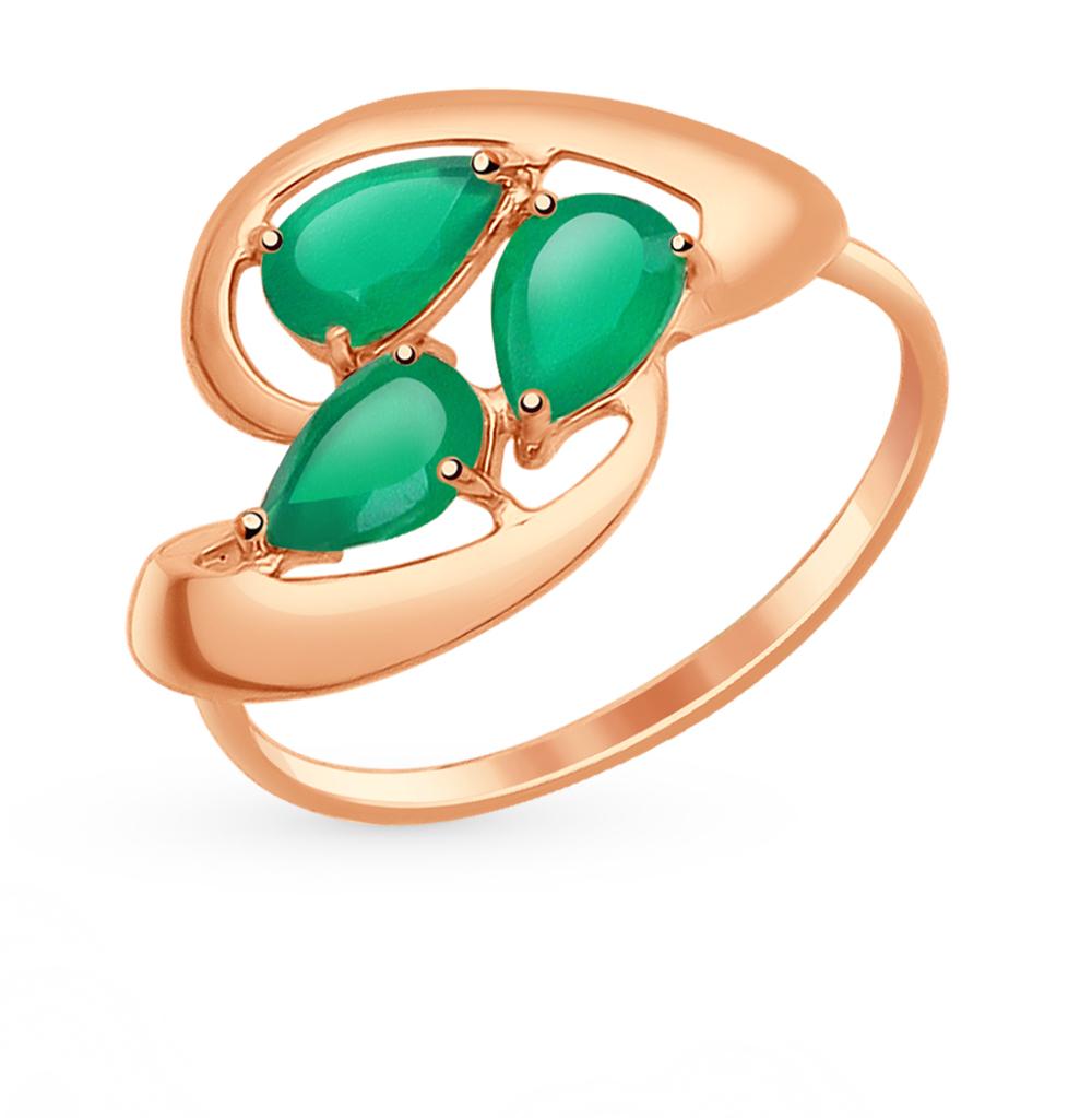 золотое кольцо с агатом SOKOLOV 714629*
