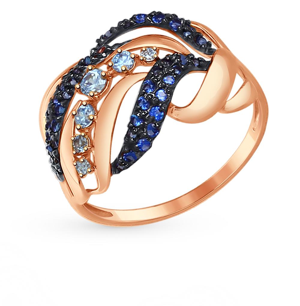 золотое кольцо с фианитами SOKOLOV 017366*