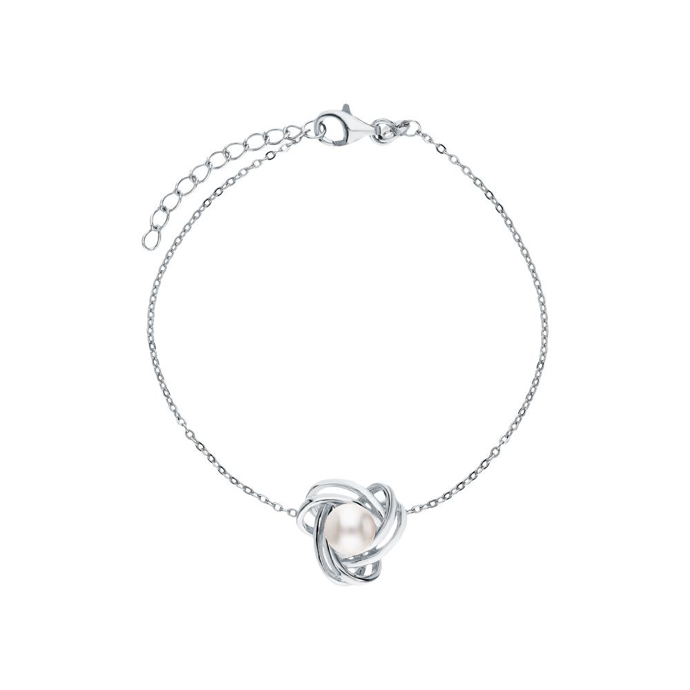 Фото «Серебряный браслет с жемчугами культивированными»