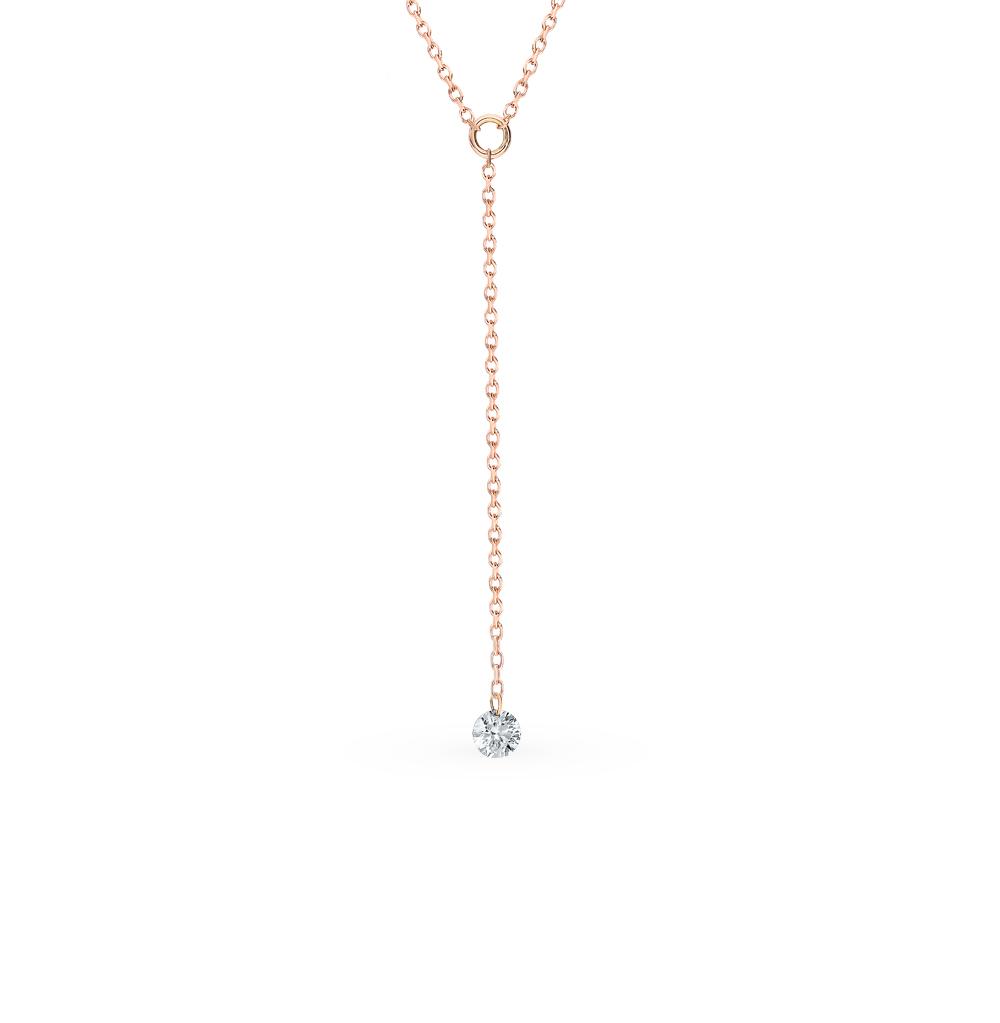Золотое шейное украшение с бриллиантом в Санкт-Петербурге