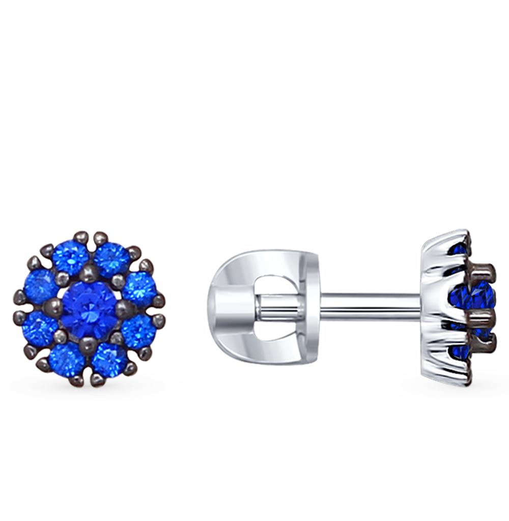 серебряные серьги с фианитами SOKOLOV 94021907