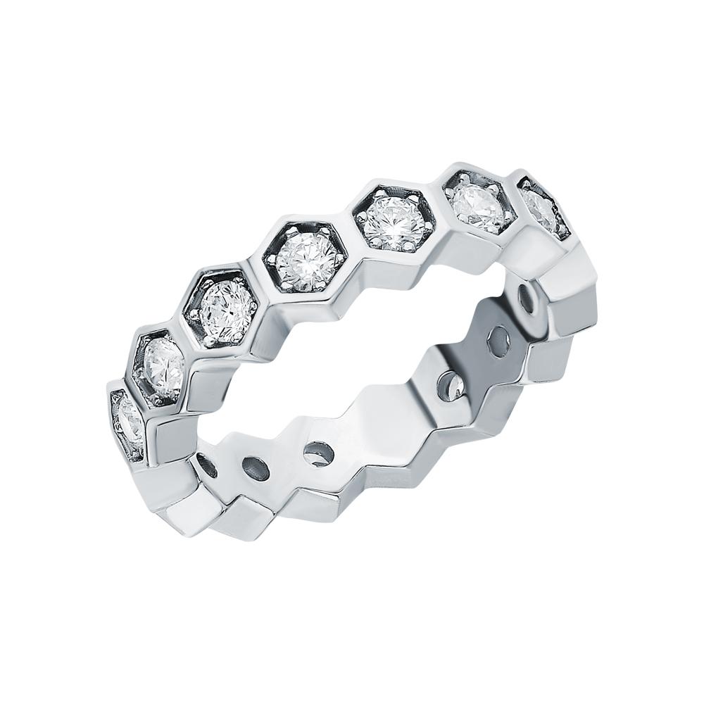 Фото «Серебряное кольцо с серебром и фианитами»