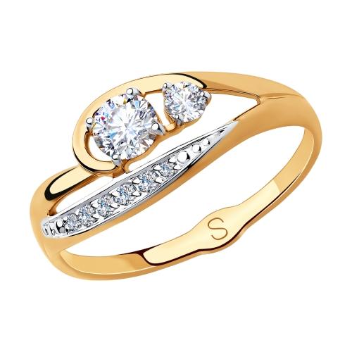 Золотое кольцо с фианитами SOKOLOV 018305* в Екатеринбурге