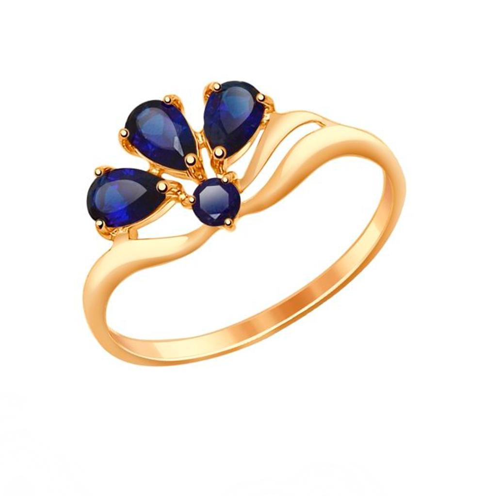 Золотое кольцо с корундом SOKOLOV 714595* в Санкт-Петербурге