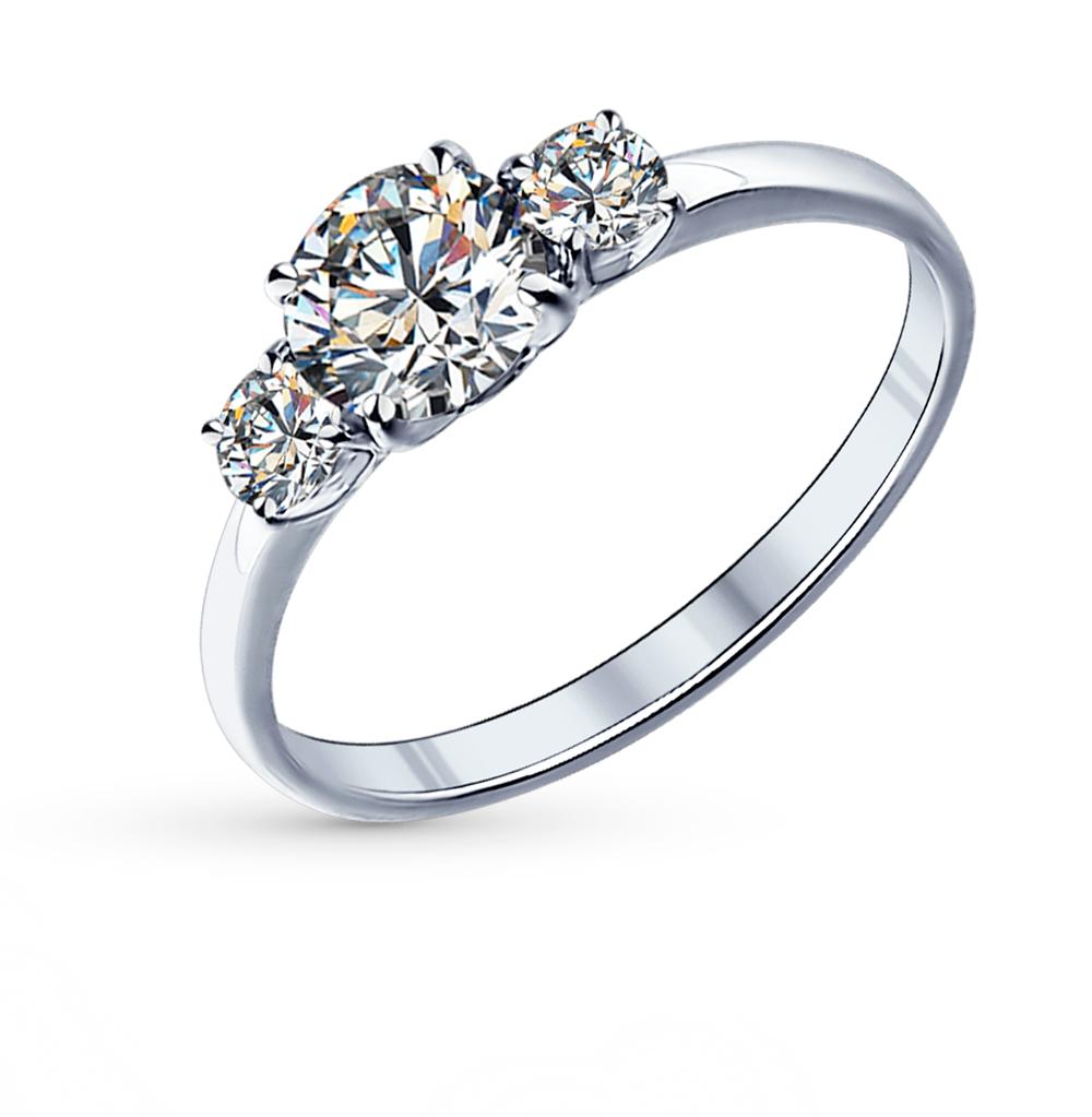 серебряное кольцо с фианитами SOKOLOV 89010008