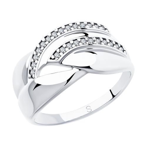 Фото «Серебряное кольцо с фианитами SOKOLOV 94012919»