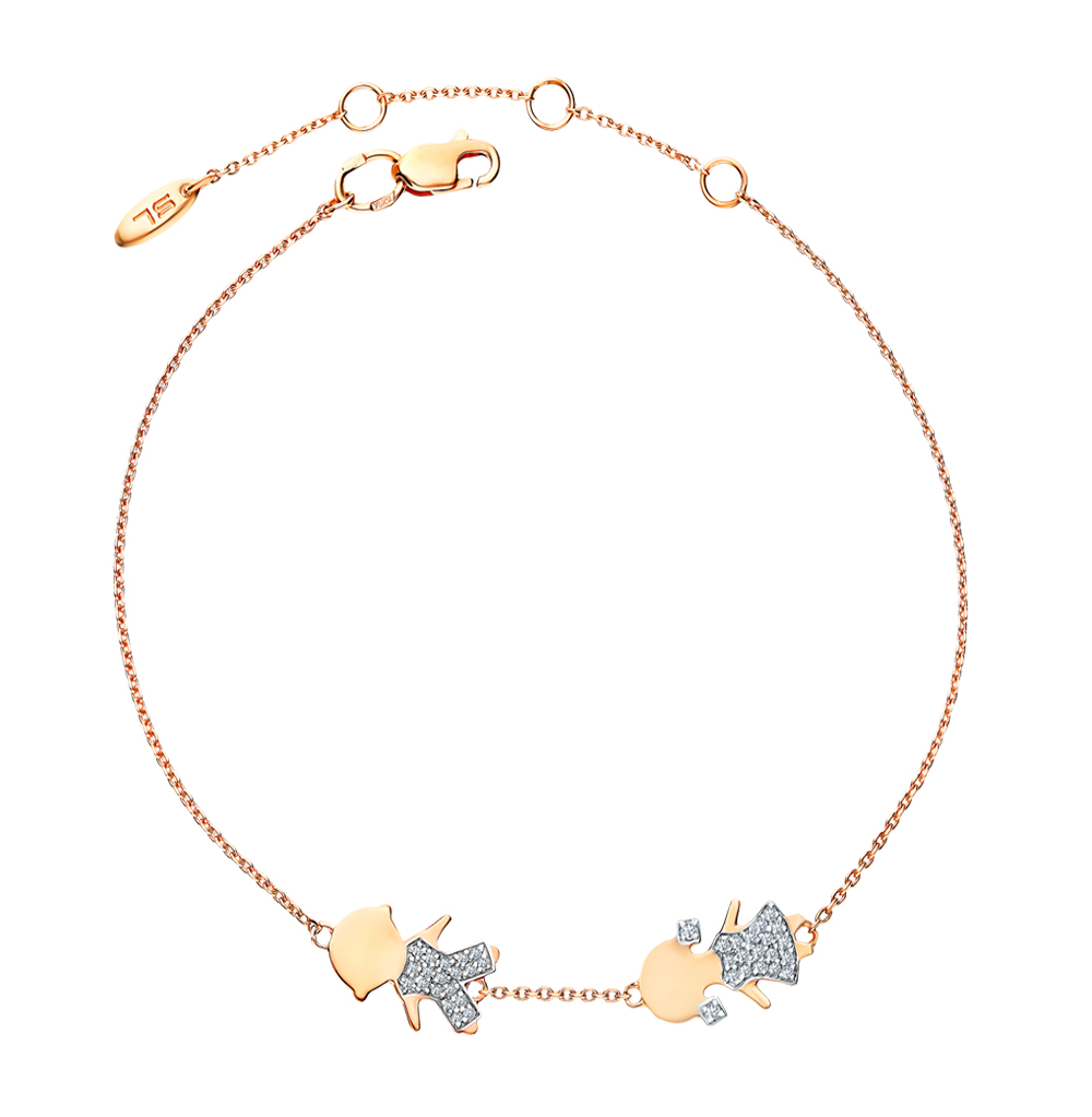 Золотой браслет с бриллиантами в Екатеринбурге