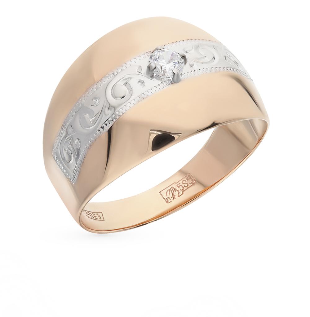 Фото «Золотое кольцо с фианитами SOKOLOV 016694*»