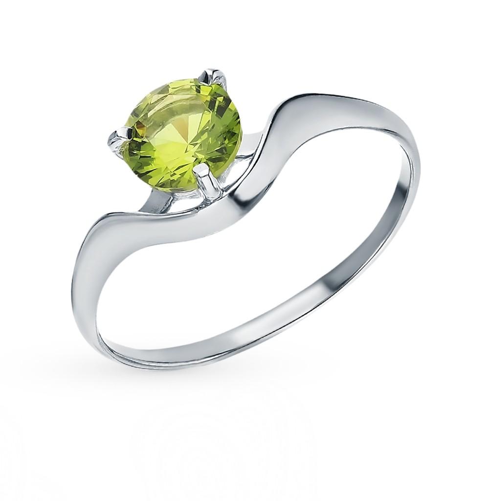 Серебряное кольцо с хризолитом в Санкт-Петербурге