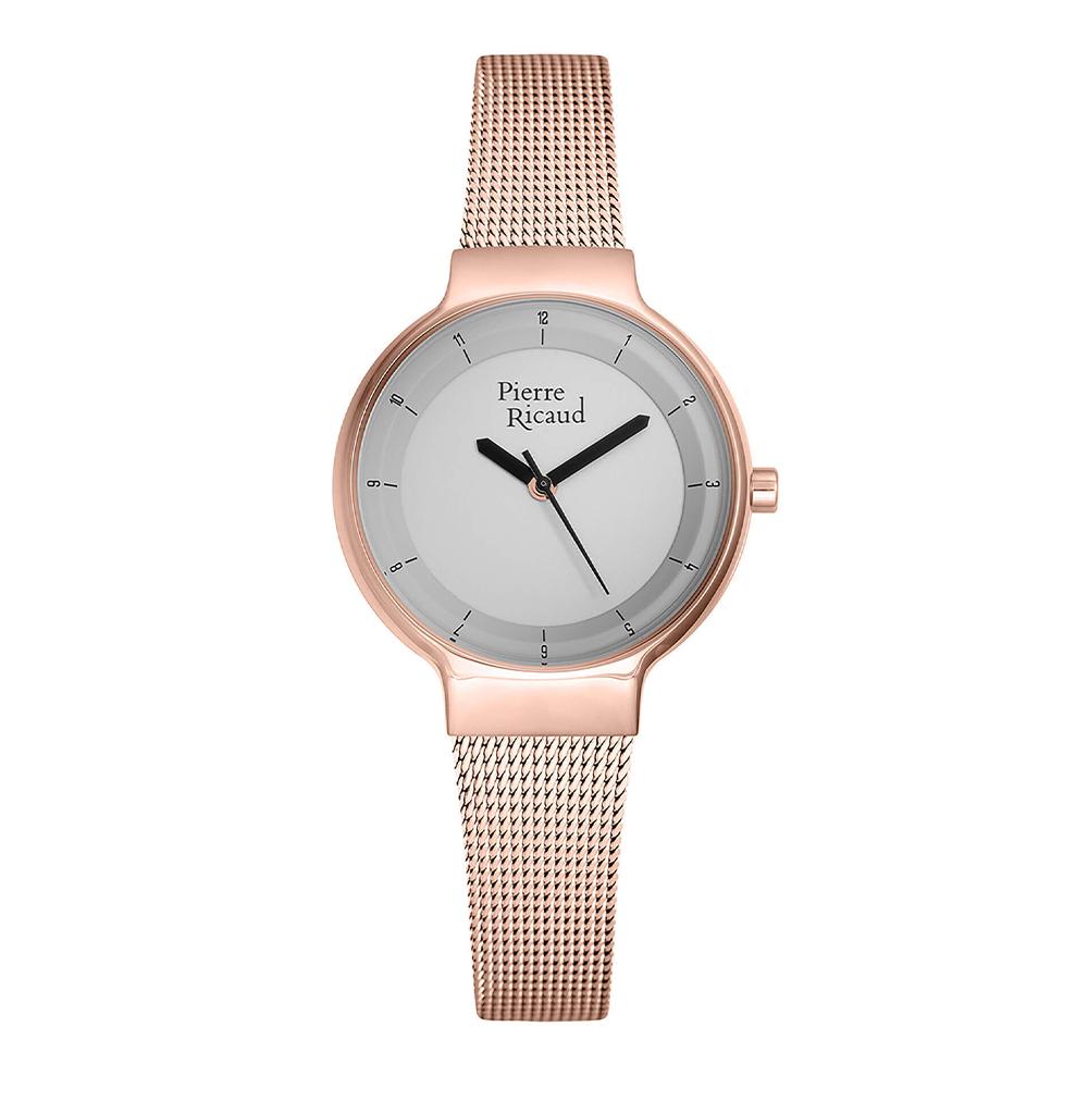 Женские кварцевые часы P51077.9117Q на стальном браслете с минеральным стеклом в Екатеринбурге
