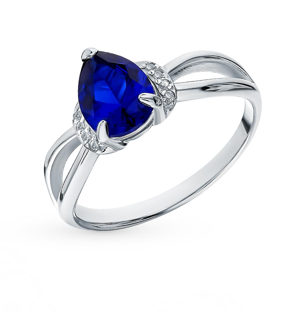 Серебряное кольцо с сапфирами в Екатеринбурге