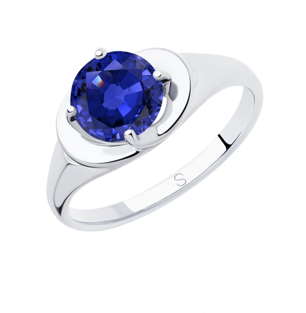 серебряное кольцо с фианитами SOKOLOV 94012826