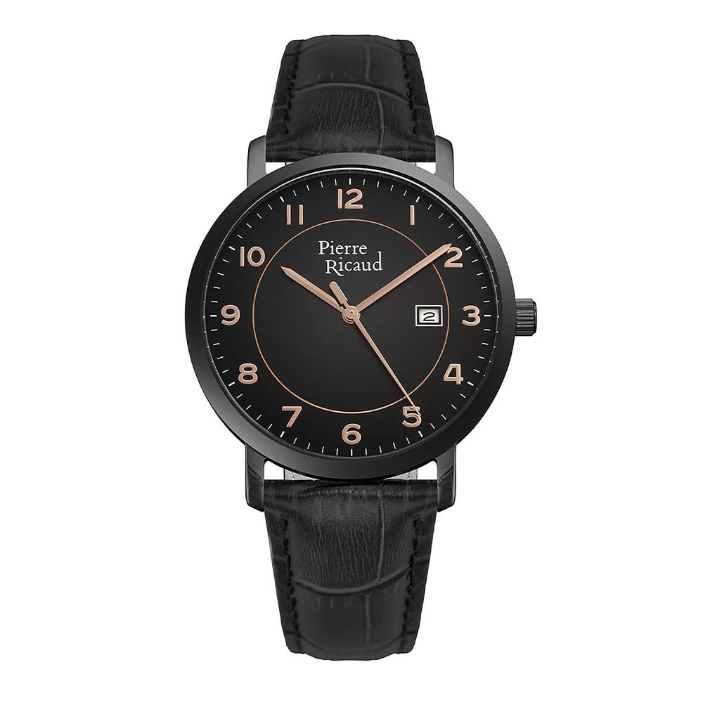 Мужские кварцевые часы P97229.B2R4Q на кожаном ремешке с минеральным стеклом в Санкт-Петербурге