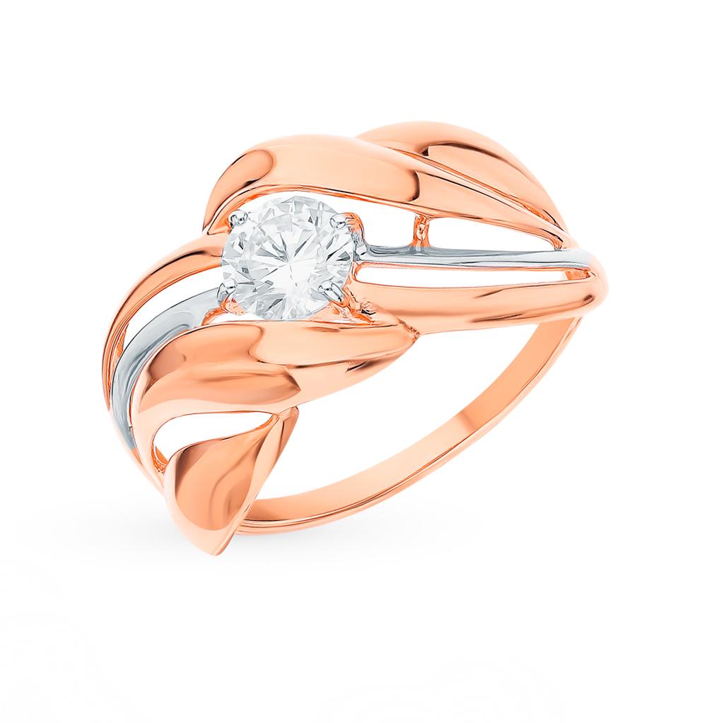 золотое кольцо с фианитами SOKOLOV 018431
