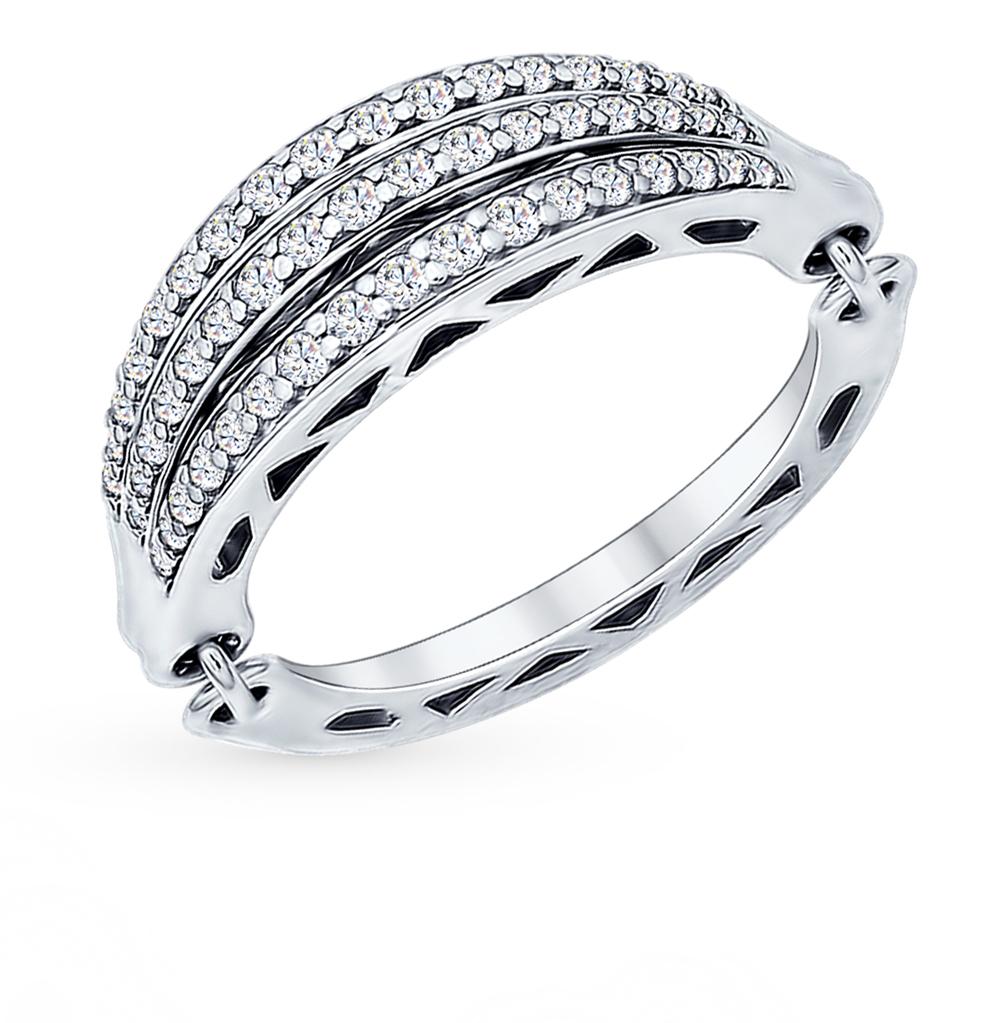 серебряное кольцо с фианитами SOKOLOV 94011901