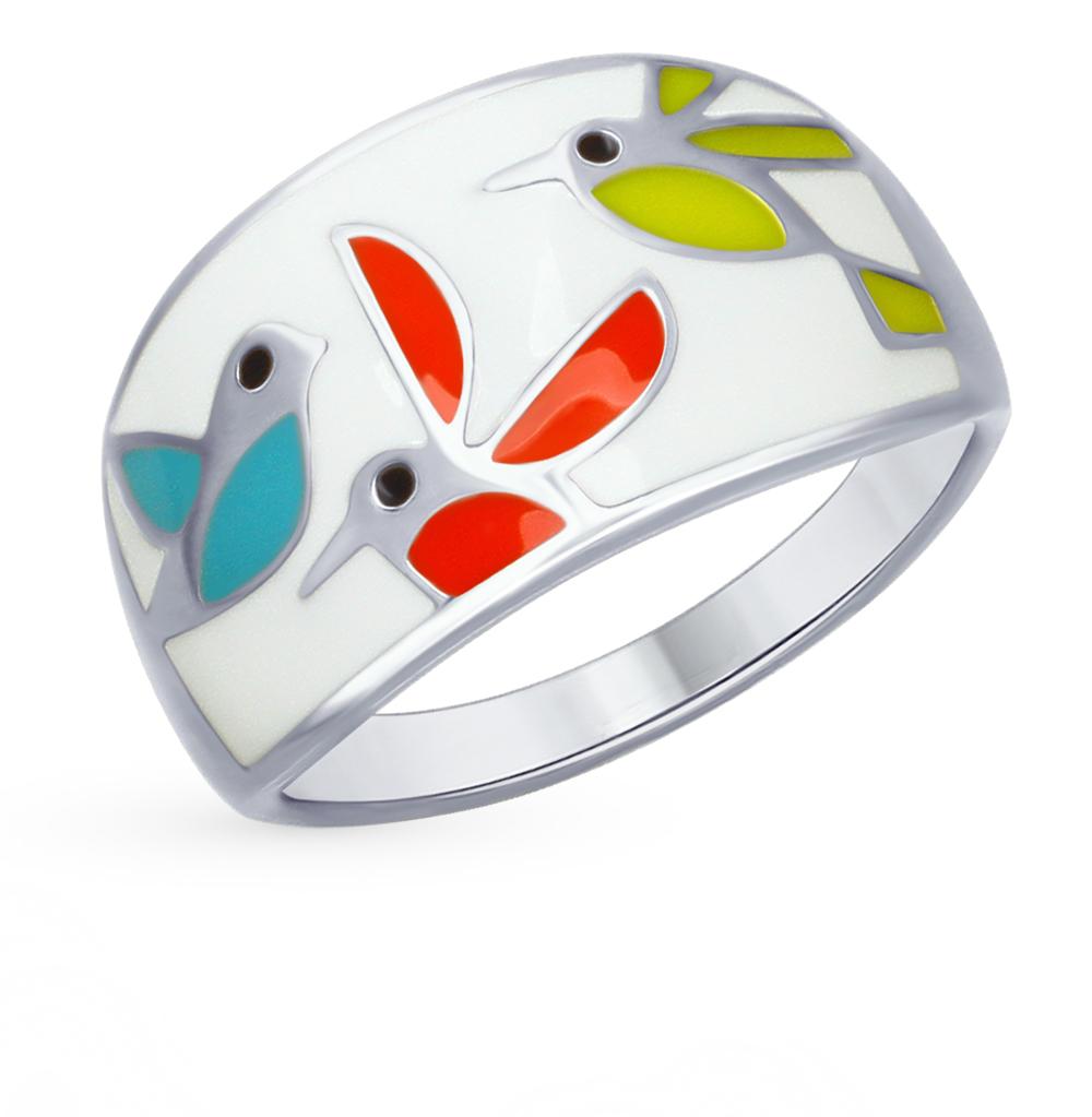 серебряное кольцо с эмалью SOKOLOV 94012447