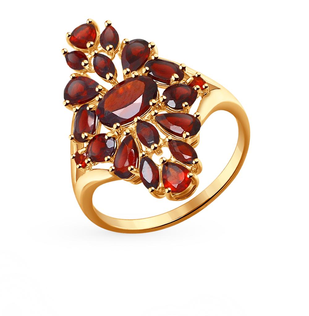Фото «Золотое кольцо с гранатом SOKOLOV 714264*»