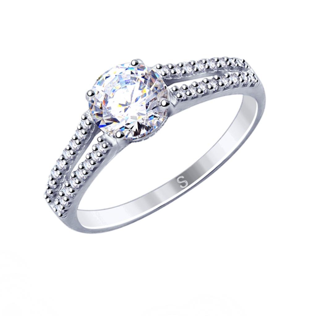 серебряное кольцо с фианитами SOKOLOV 94012809