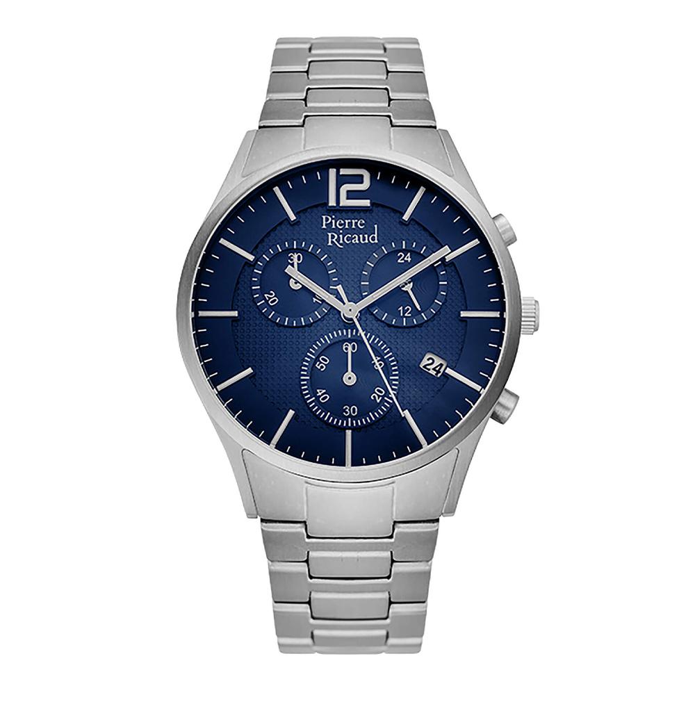 Фото «Мужские кварцевые часы P97252.4155QF на стальном браслете с минеральным стеклом»