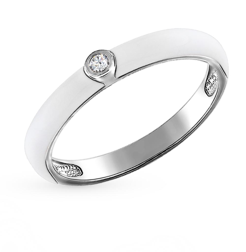 серебряное кольцо с фианитами и эмалью SOKOLOV 94011143