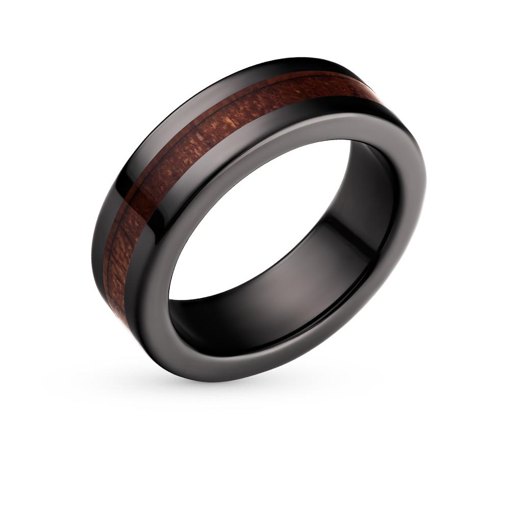 Фото «кольцо из керамики с вставка: дерево»