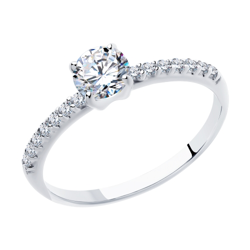 Фото «Серебряное кольцо с фианитами SOKOLOV 94012944»