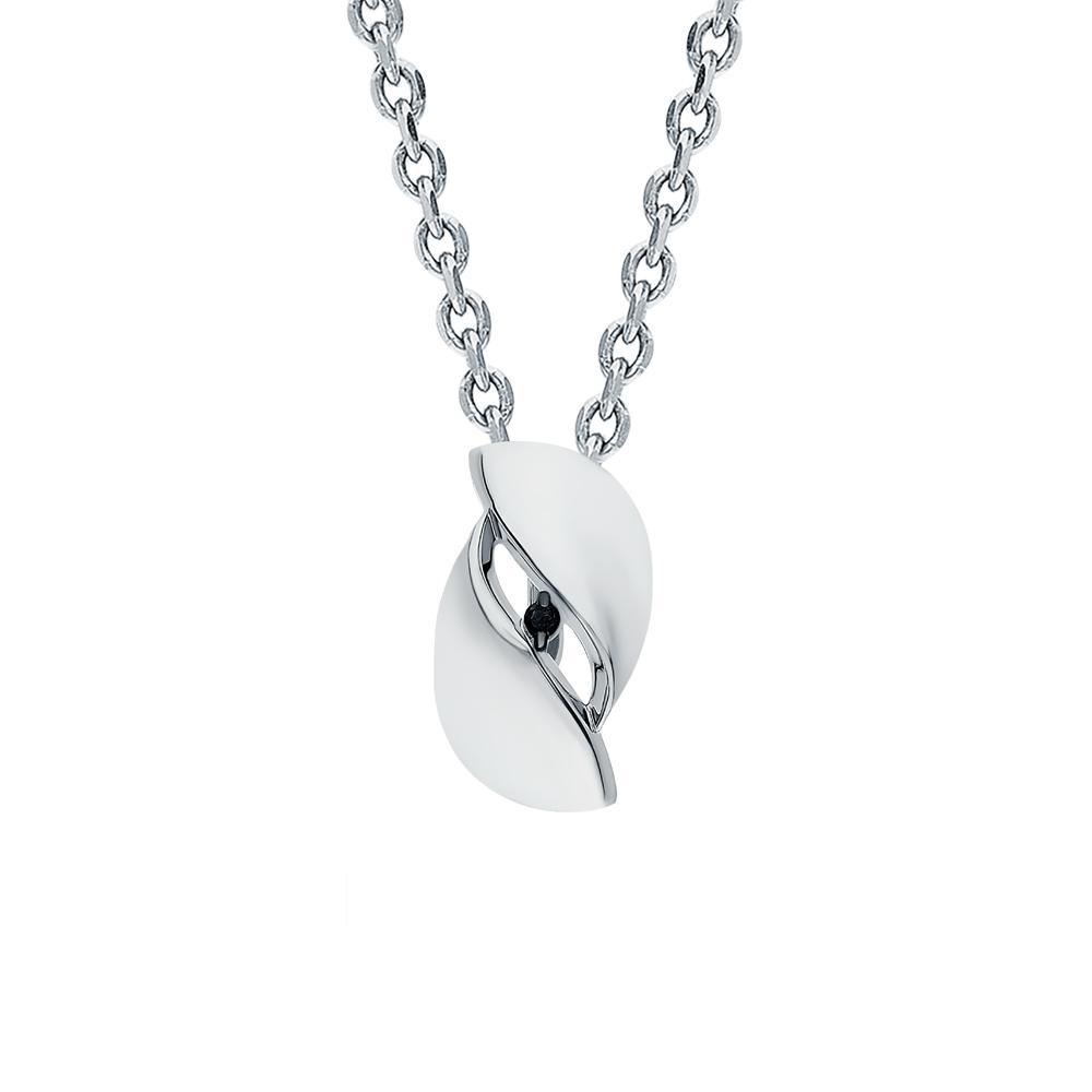 Фото «Серебряная подвеска с чёрными бриллиантами»