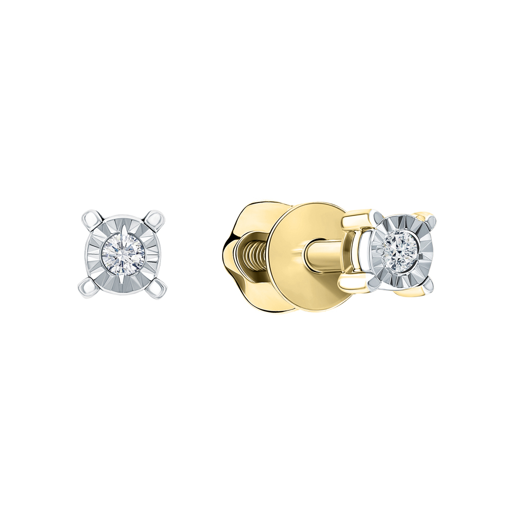 Золотые серьги с бриллиантами в Екатеринбурге