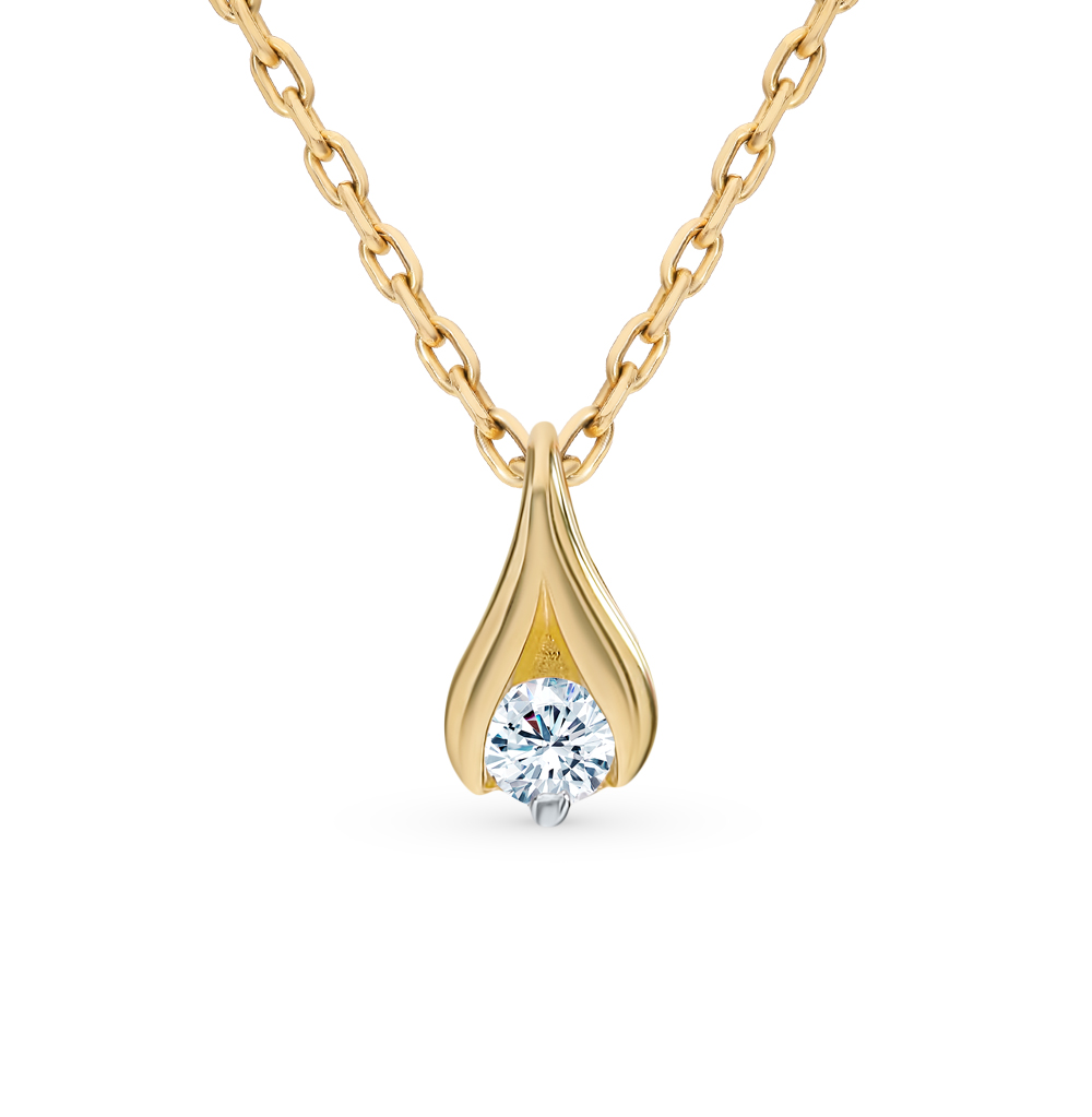 Золотая подвеска «Бриллианты Якутии»