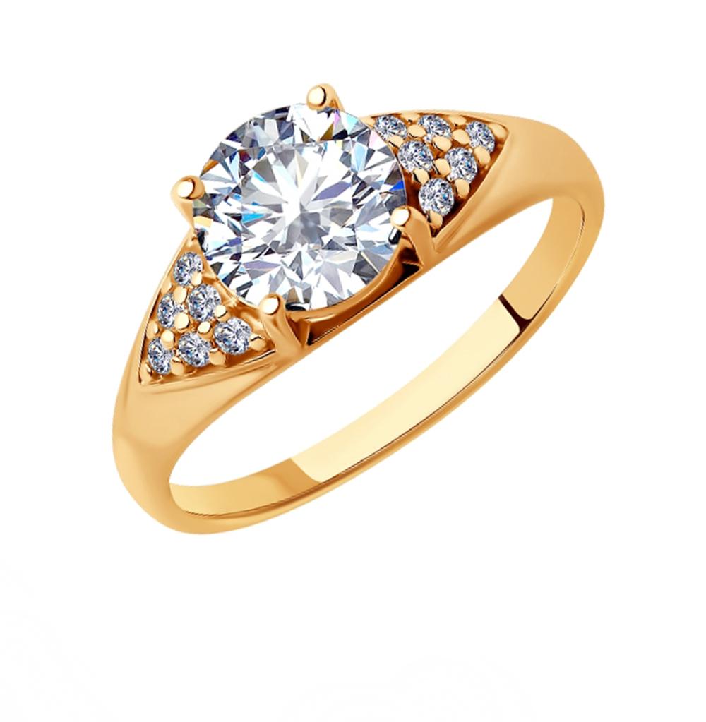 серебряное кольцо с фианитами SOKOLOV 93010800