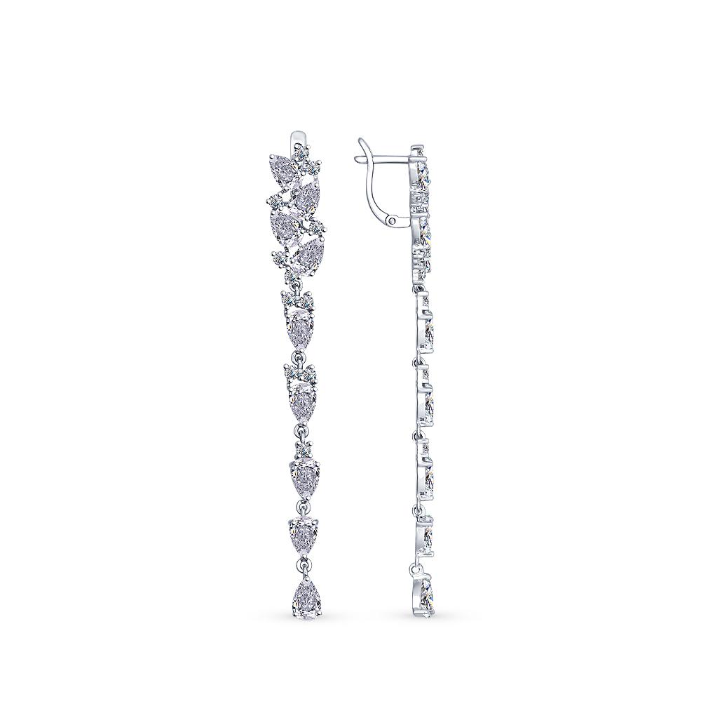 серебряные серьги с фианитами SOKOLOV 94022375