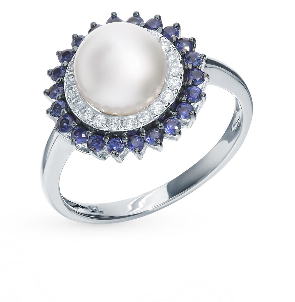 Фото «Золотое кольцо с сапфирами, жемчугом и бриллиантами»