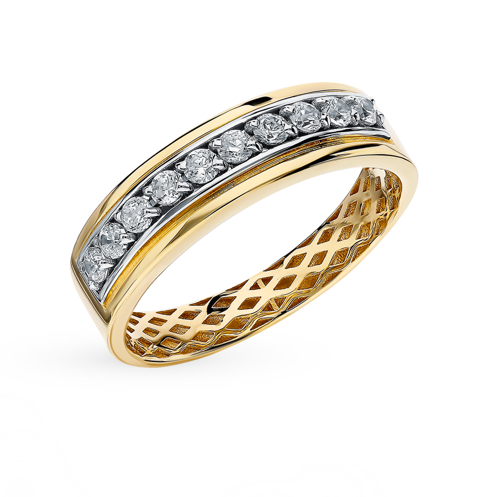 Фото «Золотое кольцо с фианитами SOKOLOV 018260-2*»