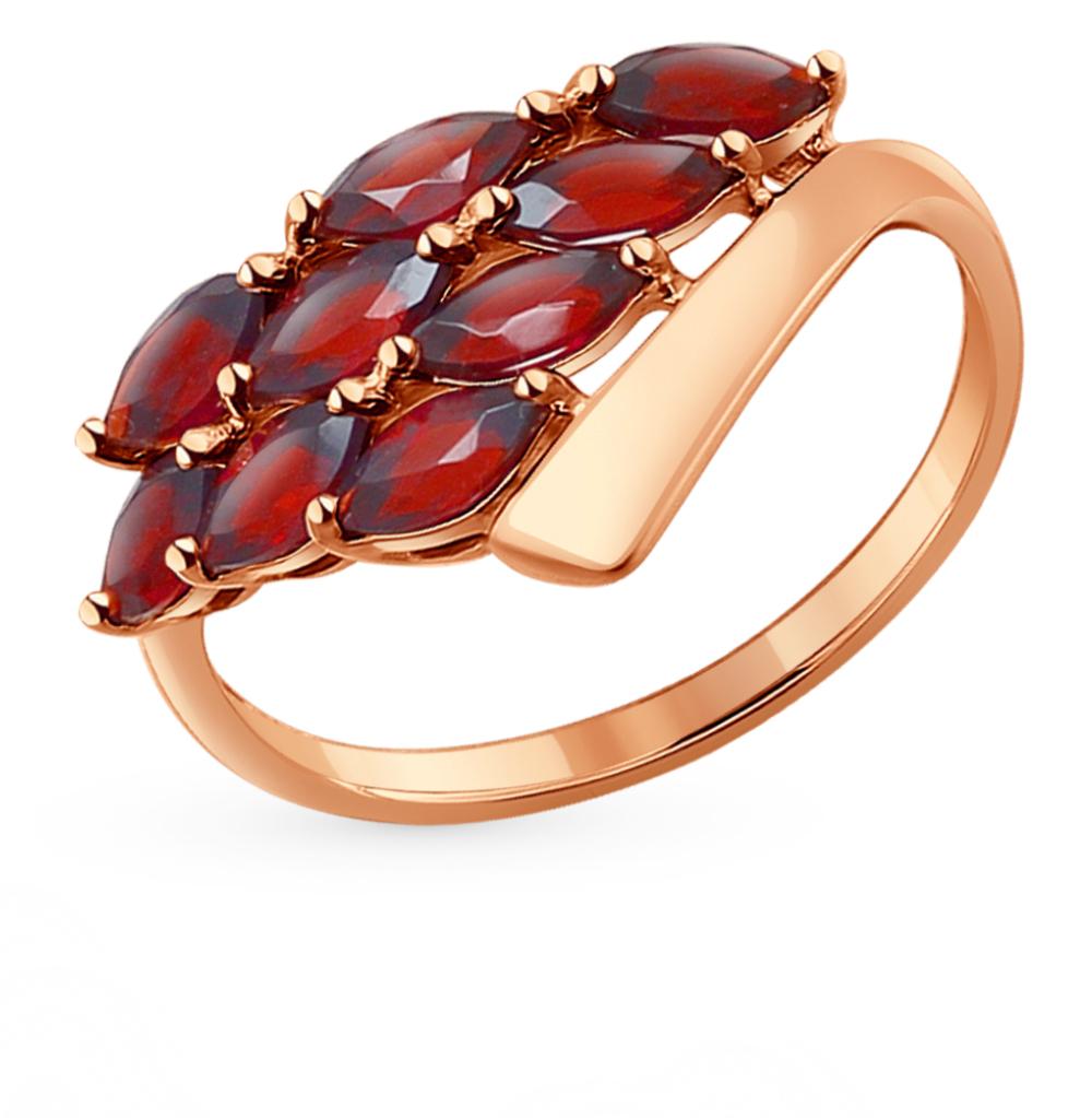 золотое кольцо с гранатом SOKOLOV 714255*