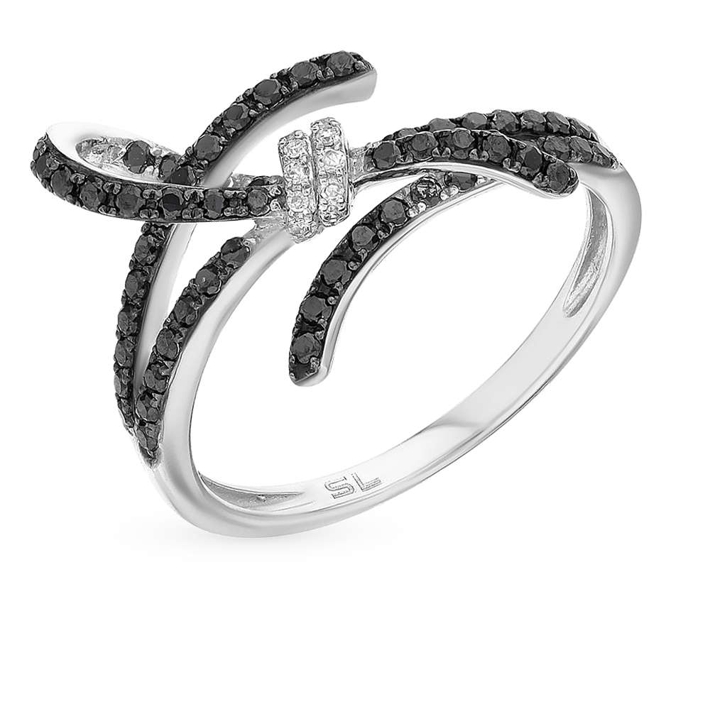 Фото «золотое кольцо с чёрными бриллиантами и бриллиантами»