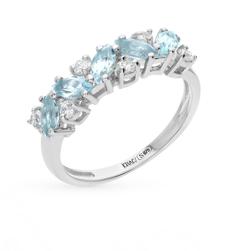 серебряное кольцо с топазами SOKOLOV 92010006