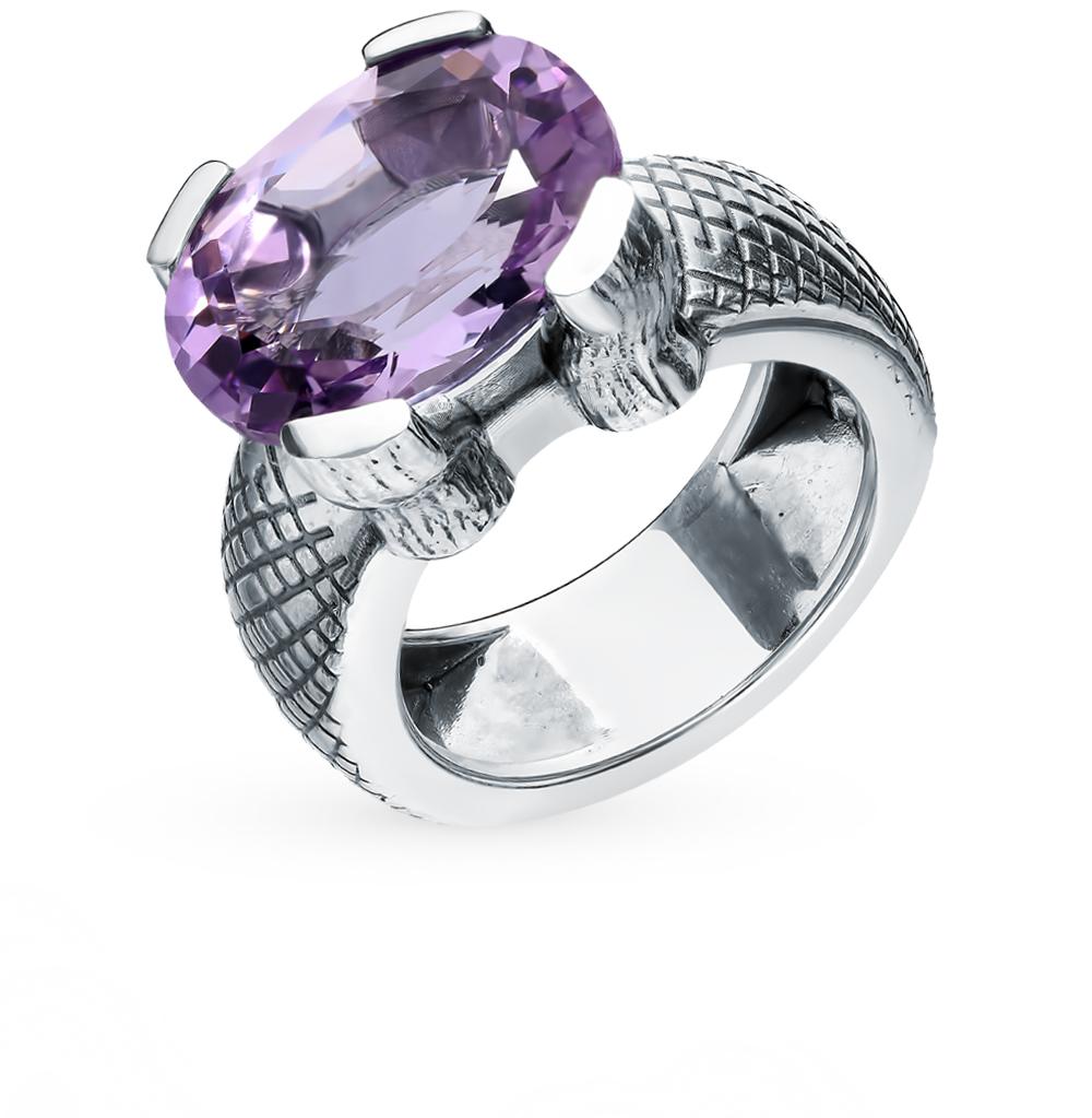 серебряное кольцо с аметистом «Мечта Кардинала»