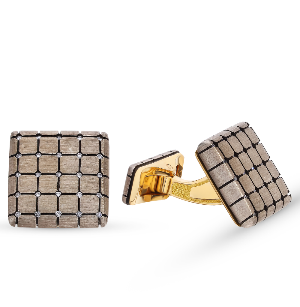 Фото «Золотые запонки с бриллиантами»