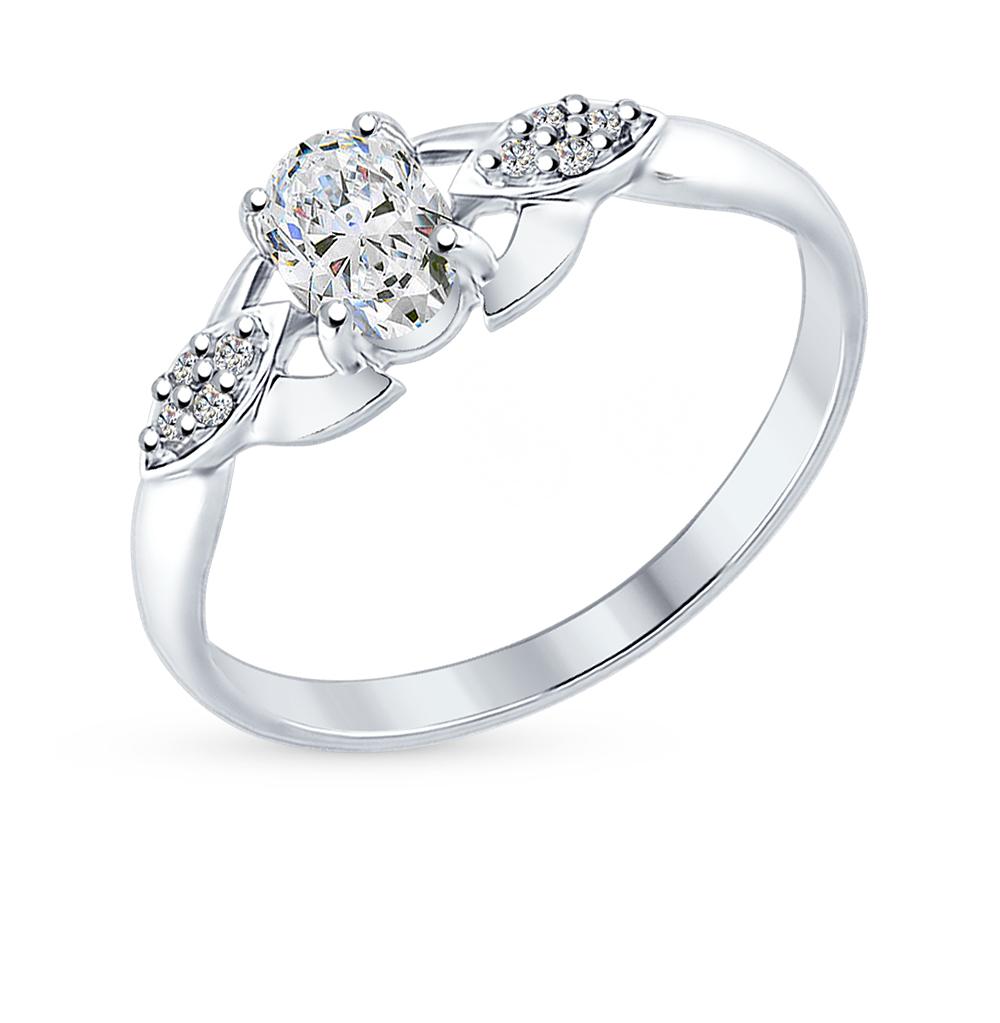 Фото «Серебряное кольцо с фианитами SOKOLOV 94012224»