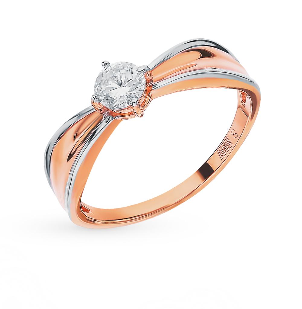 Фото «Золотое кольцо с фианитами SOKOLOV 018462*»