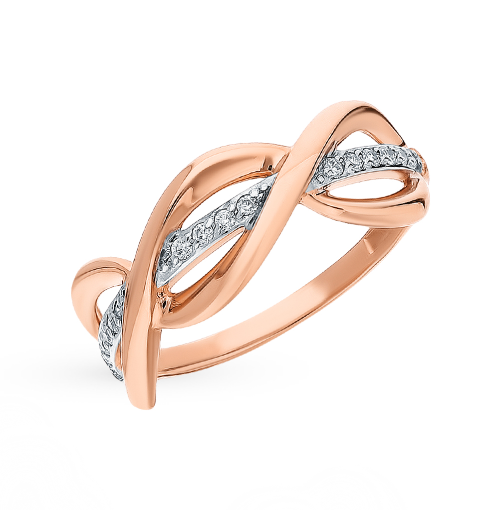 Фото «Золотое кольцо с фианитами SOKOLOV 018168*»