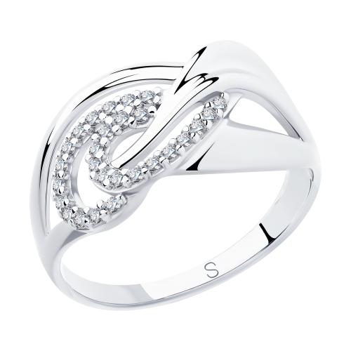 Фото «Серебряное кольцо с фианитами SOKOLOV 94012922»