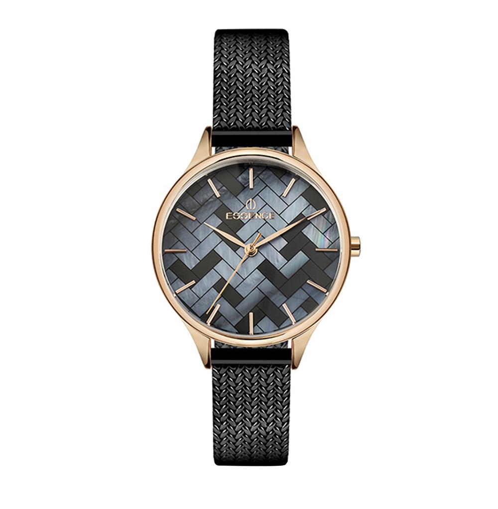Женские часы ES6535FE.460 на стальном браслете с розовым IP покрытием с минеральным стеклом