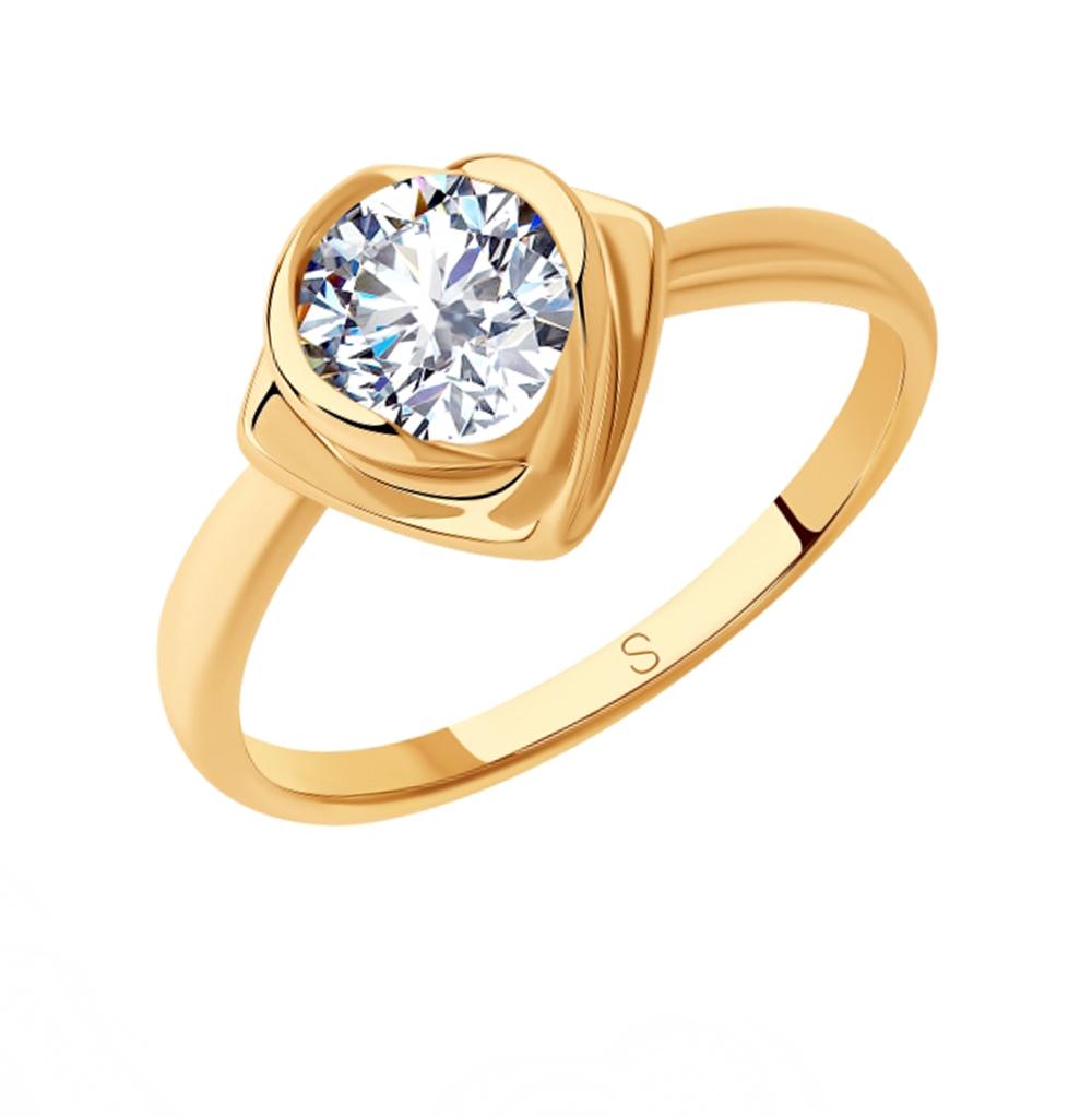 серебряное кольцо с фианитами SOKOLOV 93010811